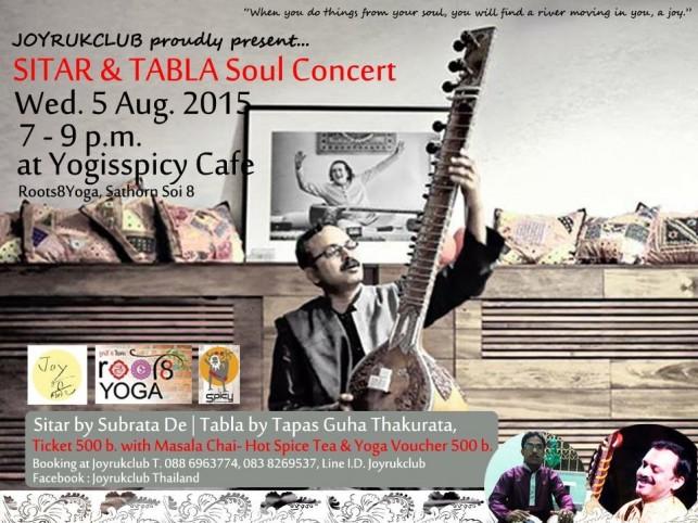 #JOYRUKCLUB proudly present… SITAR & TABLA Soul Concert
