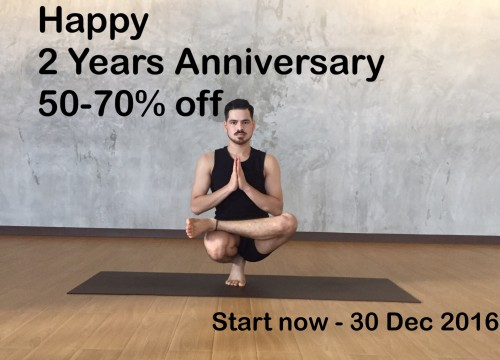 Roots8 yoga Special promotion 2 y. Anniversary