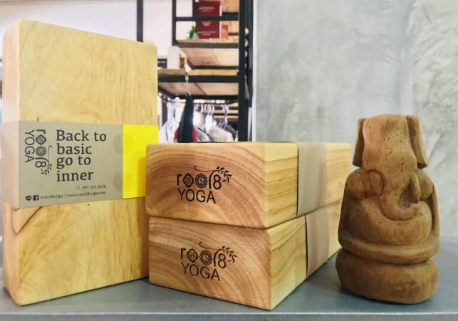 บล็อกไม้โยคะ / Yoga wooden block