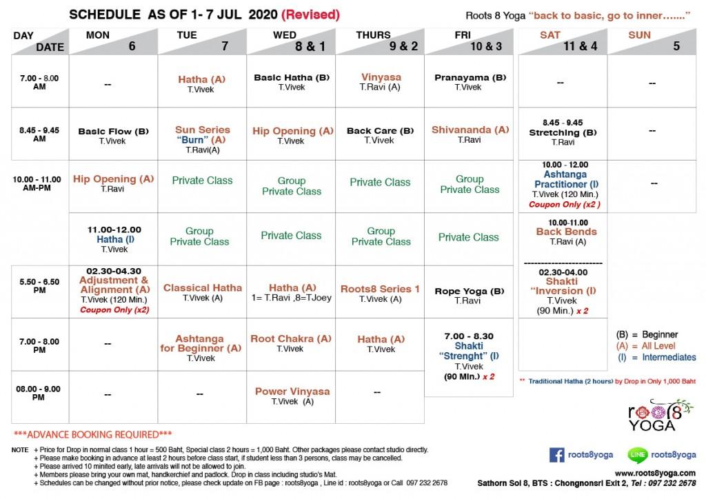 Schedule 1-11 Jul-01