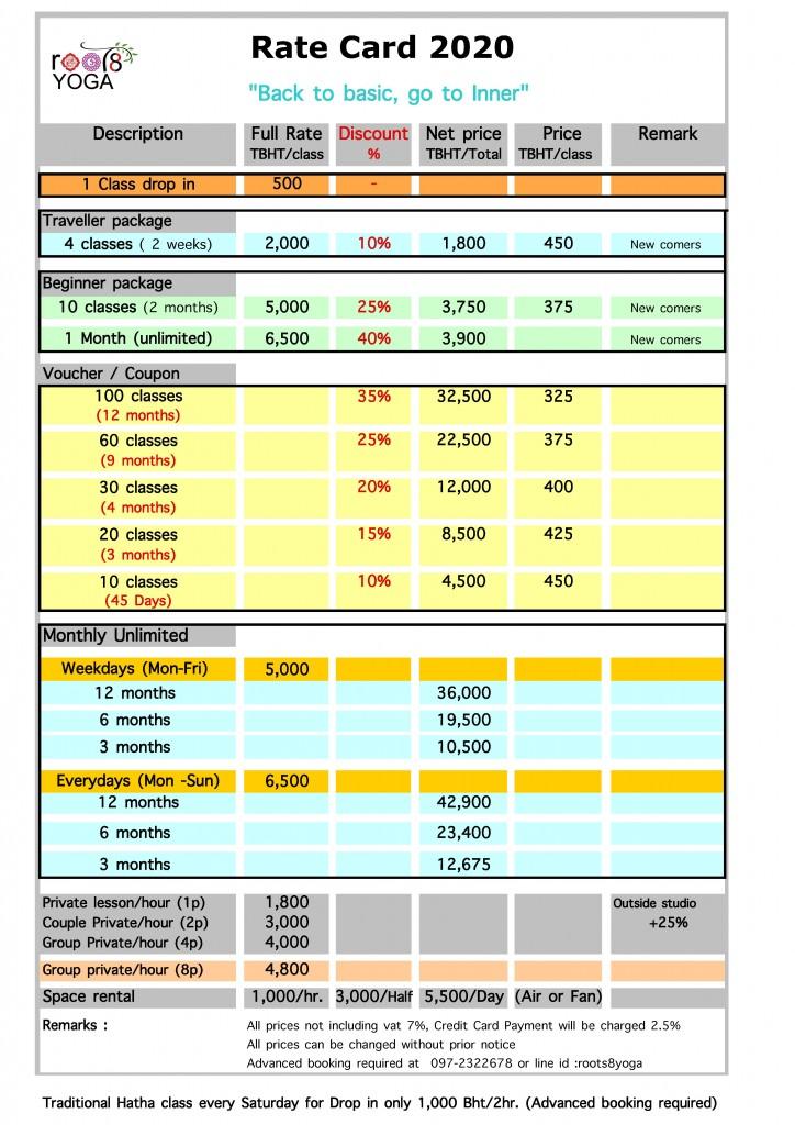 rate card-June 2020 Sheet1