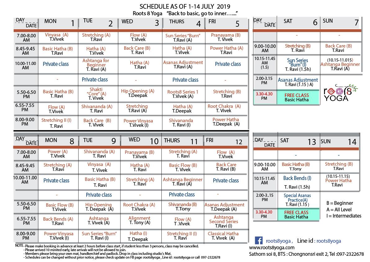 schedule 1-14 july19-01
