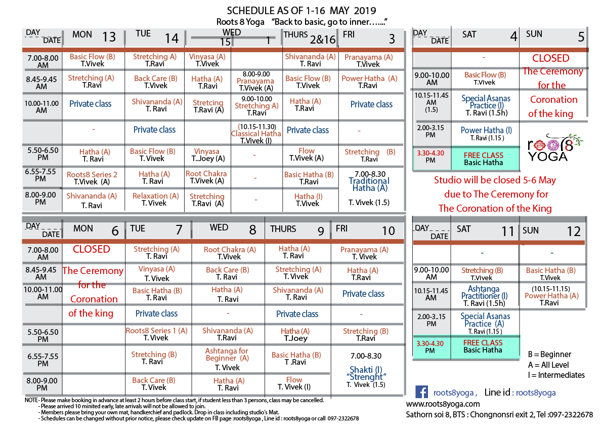 schedule 1-16 May19-01