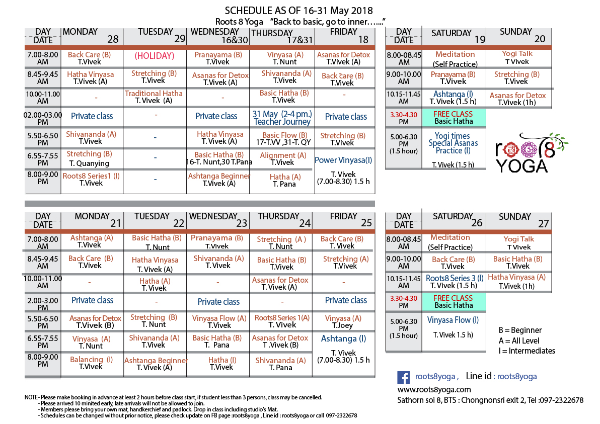 schedule 16-31 May18-01