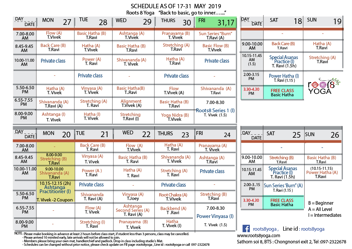 schedule 17-31 May19-01